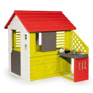 Casa Infantil de plástico Nature II con Cocina y Accesorios - Smoby