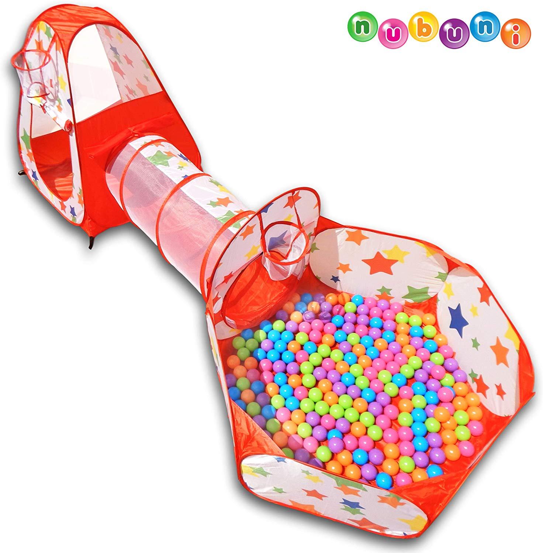 Tienda Campaña Infantil con bolas + Casita Infantil + Tunel Infantil
