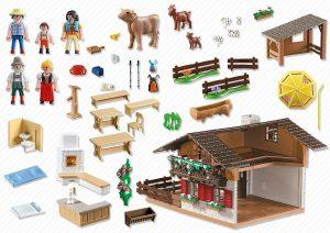 Casa de los Alpes con Varios Accesorios de PlayMobil