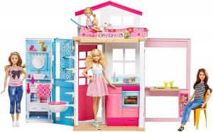 Casa de muñecas Barbie de 2 pisos transportable