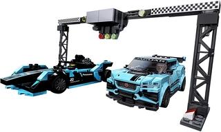 Jaguar Racing GEN2 y Jaguar I-PACE eTROPHY de Lego