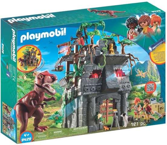 Campamento Base con T-Rex y Efectos de Luz - PlayMobil Dinos
