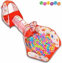 Casita infantíl para niños con bolas y Túnel Infantil
