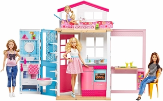 Casa de juguete Barbie transportable