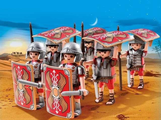 Figuras de Legionarios - PlayMobil Romanos y Egipcios