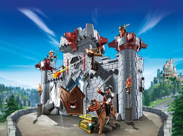Castillo maletín del Barón Negro - PlayMobil