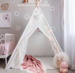 Tienda Infantil Indio Completa Lona Blanco Crudo