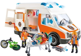 Ambulancia con Luces y Sonido de Playmobil