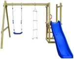 Parque Infantil con Tobogán Escaleras y Columpio
