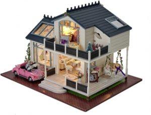 asa de muñecas en miniatura estilo provenzal con muebles