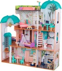 KidKraft- Casa de muñecas de madera con muebles y accesorios incluidos
