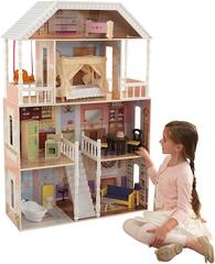 KidKraft- Savannah Casa de muñecas de madera con muebles y accesorios
