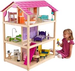 KidKraft- So Chic Casa de muñecas de madera con muebles y accesorios
