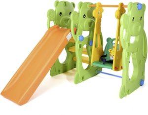 Parque infantil con Columpio y Tobogán