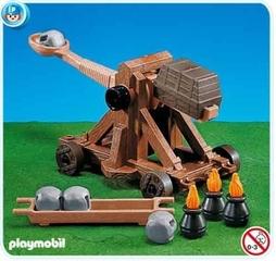 Lanzapiedras Romano de Playmobil
