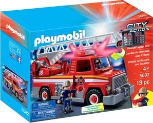 Camión de bomberos con grúa