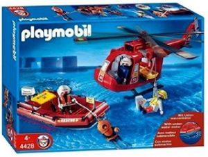 Helicóptero y Bote de Rescate de Playmobil