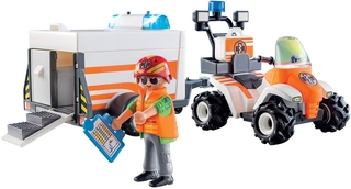 Quad Salvavidas con remolque - Playmobil